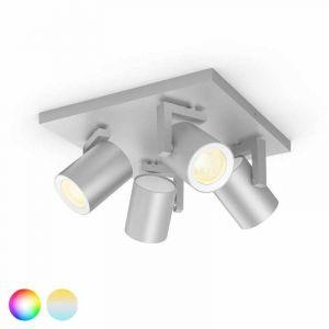 Philips Hue Argenta Spotlamp 4-lichts Aluminium