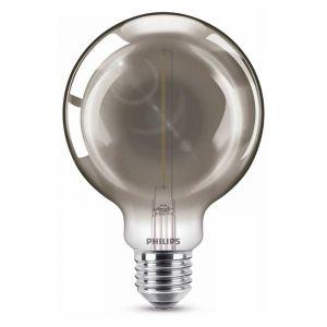 Philips Filament LED Globelamp (G93) Gerookt E27 2 Watt