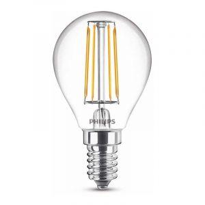 Philips Filament LED Kogellamp (P45) Helder E14 4,3 Watt