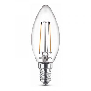 Philips Filament LED Kaarslamp (B35) Helder E14 1,4 Watt