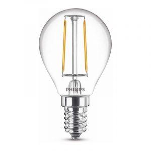 Philips Filament LED Kogellamp (P45) Helder E14 2 Watt