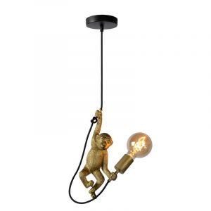 Hanglamp Chimp van Lucide met gouden aapje