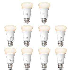 10x Philips Hue White E27 Losse Lamp 1100lm