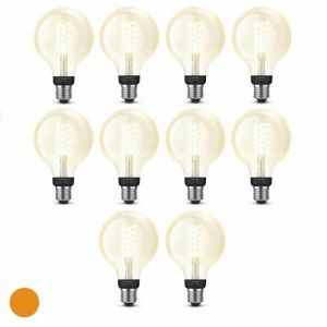 6x Philips Hue Filament Warm White E27 Globelamp 95mm