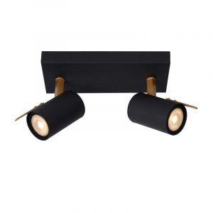 Lucide Spotlamp Grony 2-lichts Zwart 17998/10/30