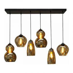 Masterlight Hanglamp Quinto Zwart 2261-05-100-25-05-6
