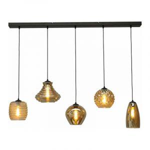 Masterlight Hanglamp Quinto Zwart 2261-05-130-5-05-131