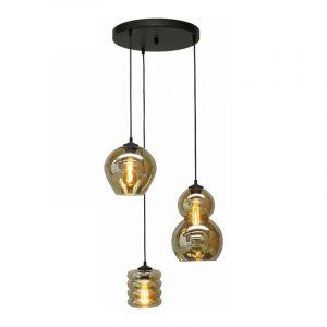 Masterlight Hanglamp Quinto Zwart 2262-05-35-3-05-237