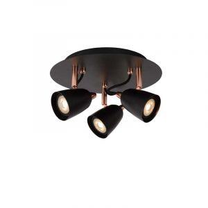 Lucide Spotlamp Ride 3-lichts Koper 26956/15/17