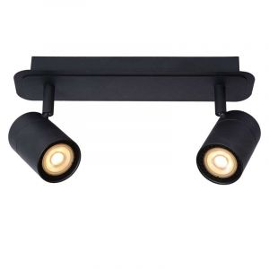 Zwarte spotlamp 2-lichts van Lucide