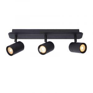 Zwarte spotlamp 3-lichts van Lucide