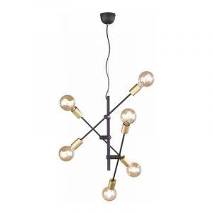 Trio Hanglamp Cross Zwart 306700632