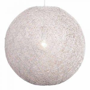 Witte Abaca hanglamp met een doorsnede van 80 cm