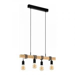 Eglo Hanglamp Townshend Zwart 32916