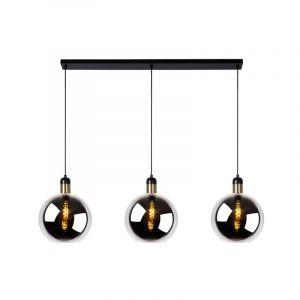 Hanglamp Julius met drie bollen van rookglas