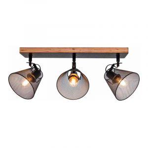 Brilliant Plafondlamp Whole Zwart 40130/76