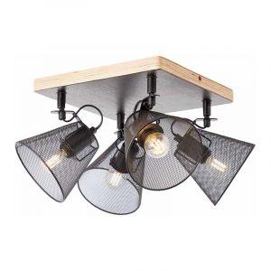 Brilliant Plafondlamp Whole Zwart 40135/76