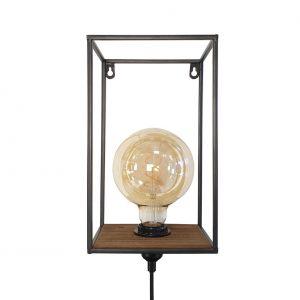 Block Wandlamp Rack Zwart 427508