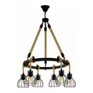 Eglo Hanglamp Rampside Zwart 43194