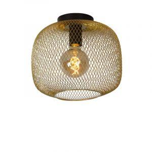 Lucide Plafondlamp Mesh Messing 45185/30/02