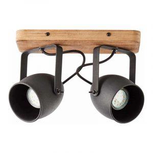 Brilliant Plafondlamp Crowton Zwart 47313/76