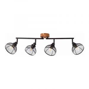 Brilliant Plafondlamp Avia Zwart 47731/76