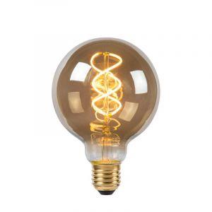 Lucide Filament LED Globelamp (G95) Gerookt E27 5 Watt