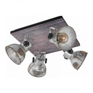 Eglo Spotlamp Barnstaple 4-lichts Bruin 49653