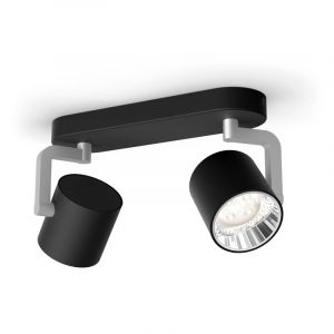 Philips Spotlamp Byrl 2-lichts Zwart 5067230P0