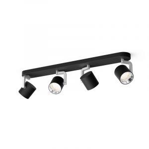 Philips Spotlamp Byrl 4-lichts Zwart 5067430P0