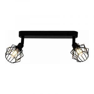Brilliant Plafondlamp Noris Zwart G54129/06