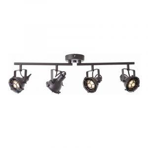 Brilliant Spotlamp Jesper 4-lichts Zwart G54332/86