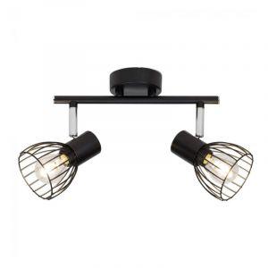 Brilliant Spotlamp Blacky 2-lichts Zwart 62113/06