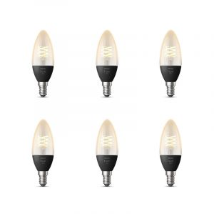 6x Philips Hue Filament White E14
