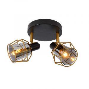 Lucide Spotlamp Nila 2-lichts Zwart 77977/12/30