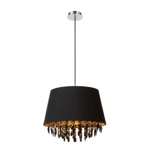 Zwarte Dolti hanglamp met pendels van Lucide