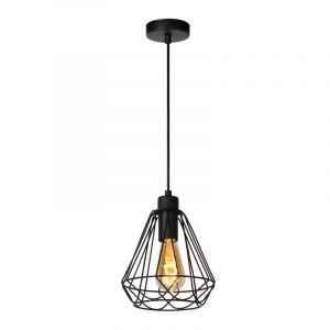 Zwarte Kyara hanglamp van Lucide met modern design