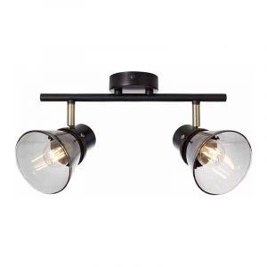 Brilliant Plafondlamp Ronald Gerookt 79313/93