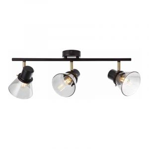 Brilliant Plafondlamp Ronald Gerookt 79316/93
