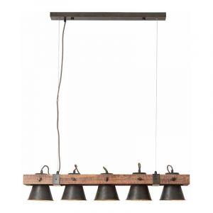 Brilliant Hanglamp Plow Hout 82175/46
