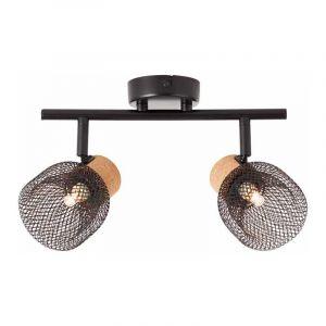 Brilliant Plafondlamp Flaka Zwart 82613/06