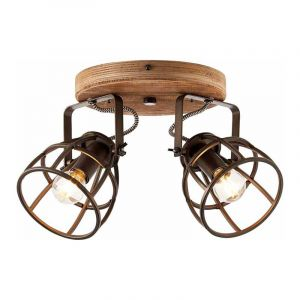 Brilliant Plafondlamp Matrix Zwart 83424/46