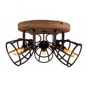 Brilliant Plafondlamp Matrix Zwart 83434/46