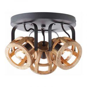 Brilliant Plafondlamp Matrix Wood Naturel 86634/76
