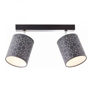 Brilliant Plafondlamp Galance Zwart 86813/06
