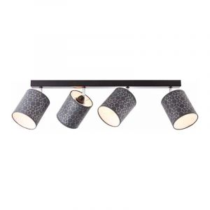 Brilliant Plafondlamp Galance Zwart 86831/06