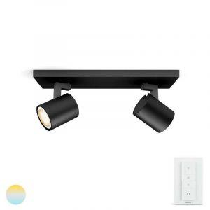 Spotlamp Runner Zwart 2-lichts met Hue Dimmer