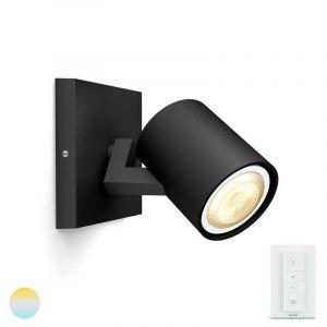 Zwarte Philips Hue Runner spotlamp met Hue Dimmer
