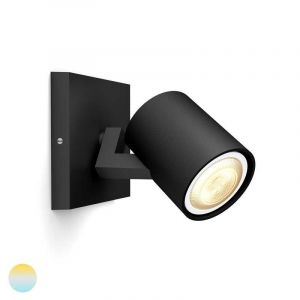 Zwarte Runner spotlamp van Philips Hue met White Ambiance verlichting