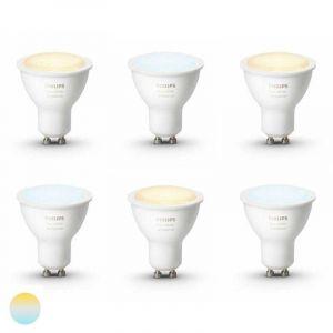 6x Philips Hue White Ambiance GU10 Losse Lamp met Bluetooth
